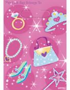 Prinzessin Tüte Geschenktasche Party-Zubehör 8 Stück pink 33x18x0,13cm