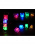 Leuchtende Eiswürfel LED-Tischdeko 6 Stück bunt