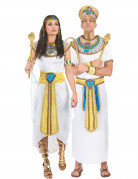 Ägyptisches Pharaonenpaar - zwei Kostüme für Erwachsene Weiß mit Gold