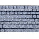 Altes Gemäuer Halloween Wanddeko-Folie grau-schwarz 1,2x12,2m