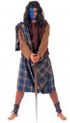Schotte Highlander Deluxe Kostüm Krieger braun-beige