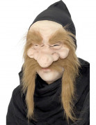 Hexer Maske Zwergen Accessoire beige-rot