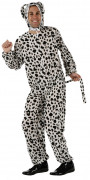 Dalmatiner Kostüm Jumpsuit Hund schwarz-weiss
