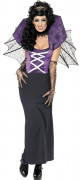 Vampire Fledermaus Damen-Kostüm schwarz-lila