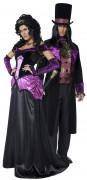 Graf und Gräfin - Paar-Kostüm für Erwachsene, schwarz-violett