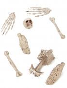 Sack mit Gebeinen und Knochen Halloween Party-Deko-Set 8-teilig beige