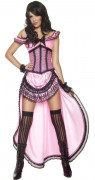 Saloon Tänzerin Damen-Kostüm rosa-schwarz