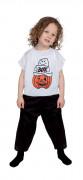 Halloween-Kinderkostüm Kürbis-Motiv weiss-schwarz-orange