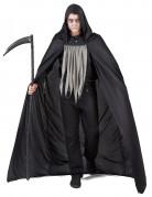 Sensenmann Halloween-Herrenkostüm schwarz-grau