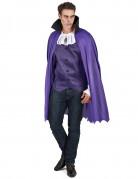Vampir Halloween Kostüm für Herren lila-schwarz-weiss