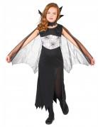 Halloween Spinnenhexe-Kinderkostüm Vampirin schwarz-weiss