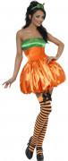 Süsser Kürbis Damenkostüm orange