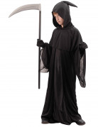 Sensenmann-Kinderkostüm Halloween-Kostüm schwarz