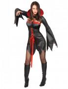 Verführerische Halloween Vampirin Damenkostüm schwarz-rot