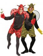 Biene und Marienkäfer - Paarkostüm für Erwachsene, gelb-schwarz und rot-schwarz