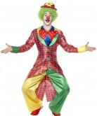 Herrenkostüm Clown rotkariert