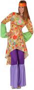 Hippie-Damenkostüm Hippie-Frauenverkleidung bunt