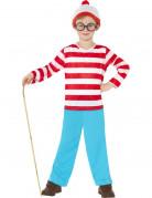 Wo ist Walter - Kostüm für Jungen rot-weiß
