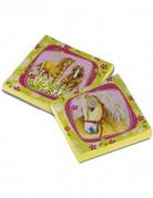 Servietten Pferde Kindergeburtstag Deko 20 Stück hellgrün-rosa
