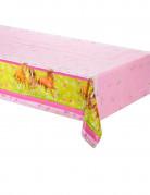 Tischdecke Pferde Kindergeburtstag Deko hellgrün-rosa