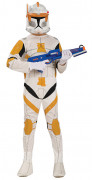 Star Wars™-Kinderkostüm Clone Trooper Cody weiss-orange-schwarz