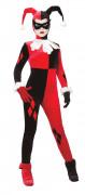 Harley Quinn™-Kostüm für Damen Lizenzkostüm rot-schwarz