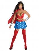 Sexy Wonder Woman Kostüm für Damen rot-blau