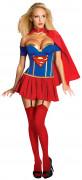 Sexy Supergirl-Damenkostüm DC-Lizenzkostüm blau-rot-gelb