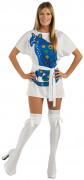 Agnetha von ABBA Damen-Kostüm weiß-blau