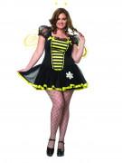 Süße Biene Damenkostüm übergrößen schwarz-gelb