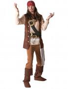 Jack Sparrow™-Herrenkostüm Fluch der Karibik™ Lizenzkostüm braun-beige-rot
