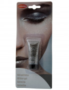 Glitzer Make-Up Gel Schminke silber 14ml
