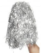 Pom Poms für Cheerleader silber