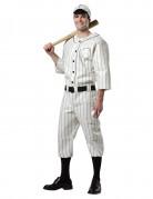 Baseballspieler-Herrenkostüm Sportler-Kostüm weiss-schwarz