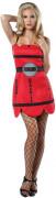 Sexy Dynamite Kleid TNT Damenkostüm rot-schwarz