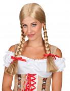 Zopfperücke für Damen blond