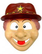 Cowboy-Maske Kindermaske beige-braun