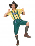 Bayer Lederhosen-Kostüm grün-gelb