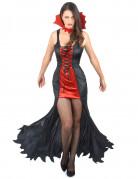 Vampirinnen Damenkostüm Halloween schwarz-rot