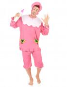 Baby Herren-Kostüm rosa-weiss