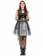 Gothic-Braut Halloween-Damenkostüm schwarz-grau