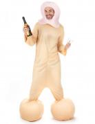 Frivoles Penis-Kostüm JGA-Kostüm hautfarben-rosa