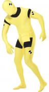 Crash Test Dummy Second-Skin-Suit gelb-schwarz