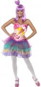 Candy Girl Popstar Damenkostüm pastell-bunt