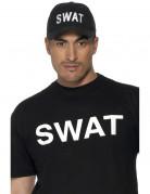 SWAT Polizist Kappe Mütze schwarz-weiss