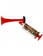 Fan-Horn Tröte rot-bunt