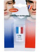 Frankreich Fan-Schminkstift Frankreich-Schminke blau-weiss-rot 2,9g