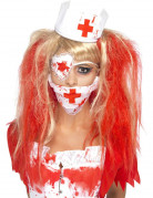 Zombie Horror Krankenschwester Set weiss-rot