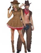 Sexy Cowboy-Paarkostüm für Erwachsene, braun