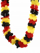 Hawaii-Blütenkette Deutschland-Fanartikel schwarz-rot-gelb
